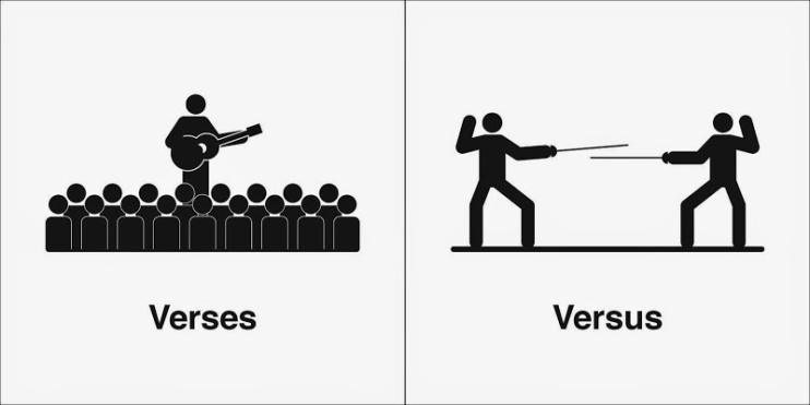 Image result for versus verses